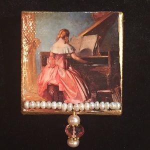 Grace and Viola Art Brooch